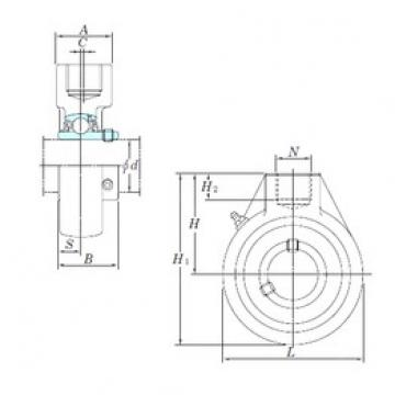 KOYO UCHA209-27 bearing units
